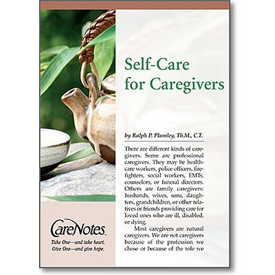 Self-Care for Caregivers pamphlet